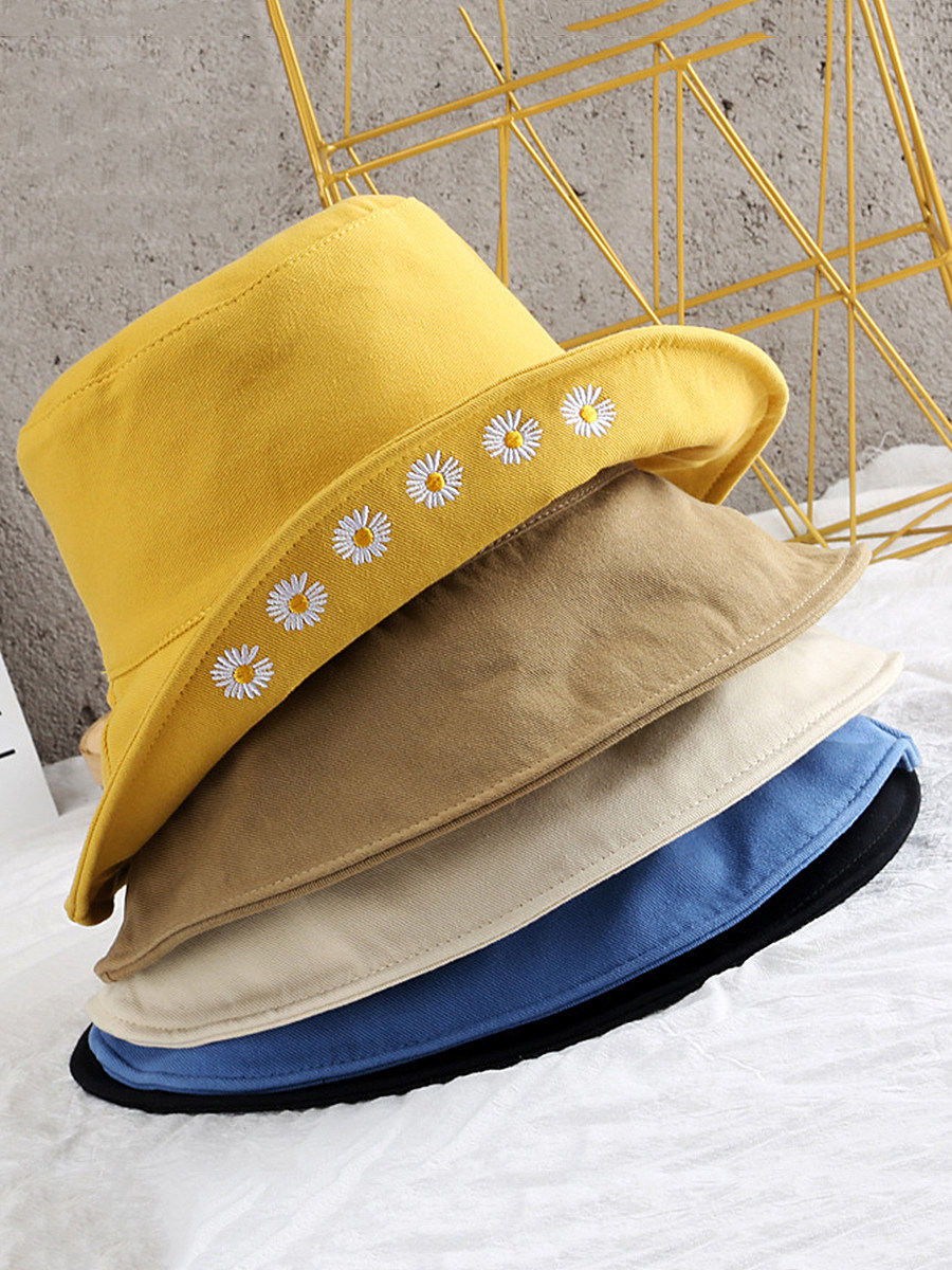 Little Daisy Embroidered Fisherman Hat Visor