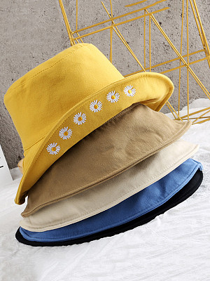 Little Daisy Embroidered Fisherman Hat Visor фото