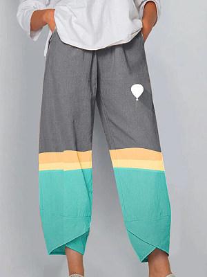 Fashion fresh beach print split slacks, 25424602
