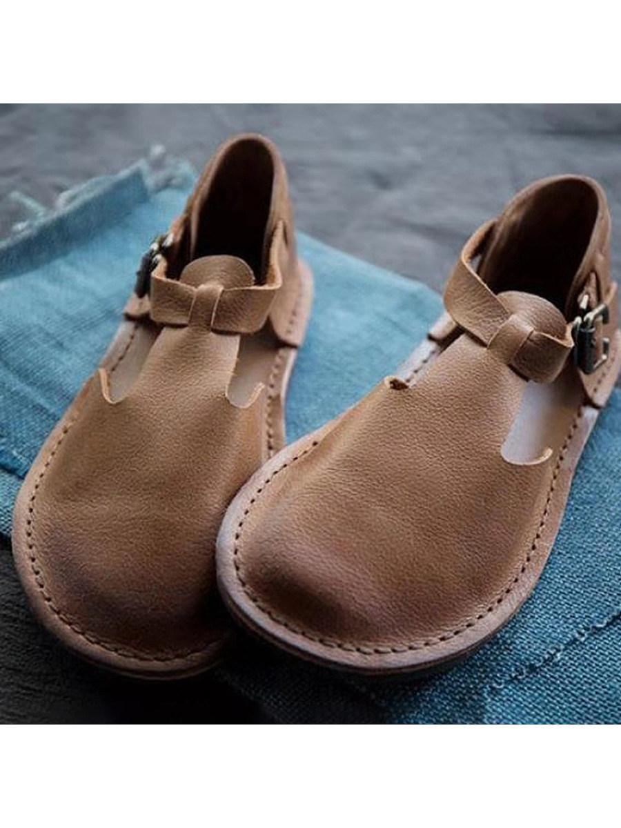 BerryLook Women's round flat shoes