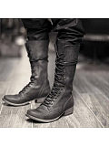 Women's Casual Solid Lace Up Martin Boots
