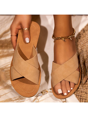 Women's casual flat slippers, 24049691