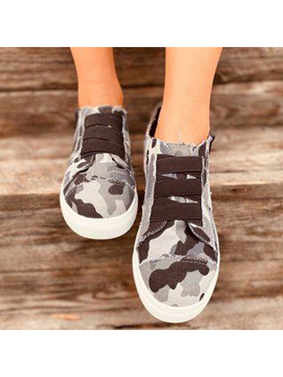 BerryLook Women's casual camouflage canvas sneakers