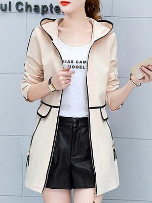 Women's Colorblock Hooded Coat фото