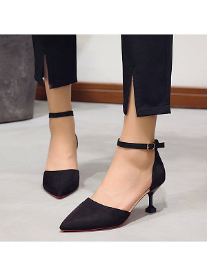 Pointed toe stiletto heel pumps