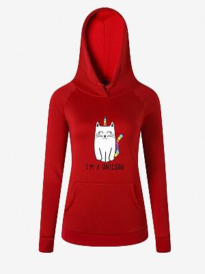 Fashion Print Hooded Sweatshirt Hoodie фото