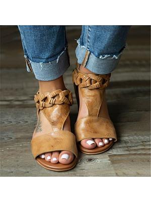 Women's Casual Hollow Flat Sandals, 10931220