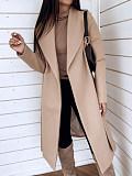 Image of Lapel Lapel Woolen Jacket