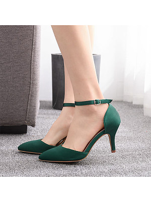 Berrylook coupon: Stiletto pointed satin heeled sandals