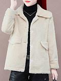 Image of Women's short imitation lamb plush coat