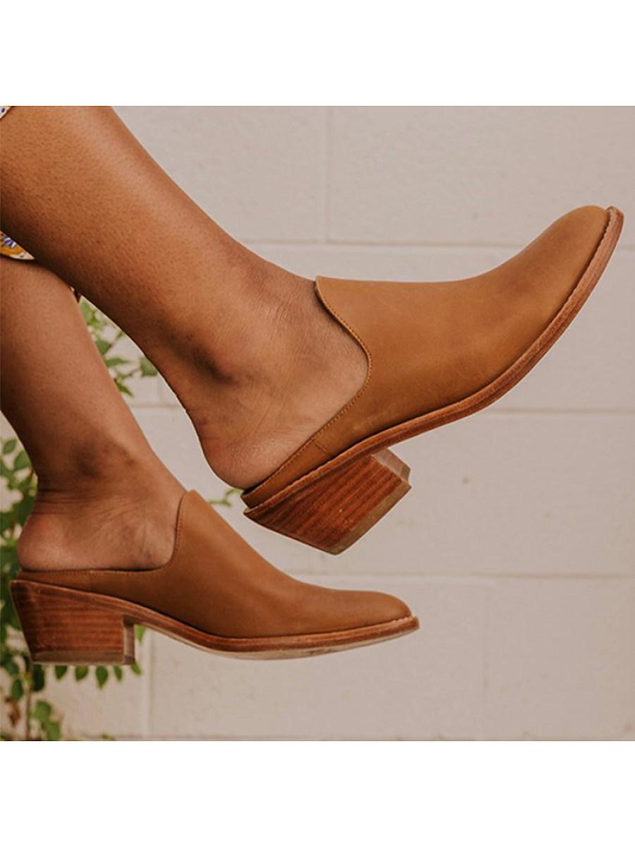 BerryLook Women's comfortable mid-heel slippers