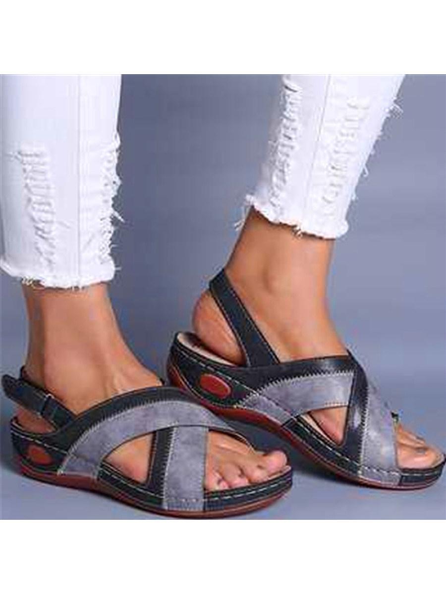 BerryLook Fish Mouth Retro Women's Sandals