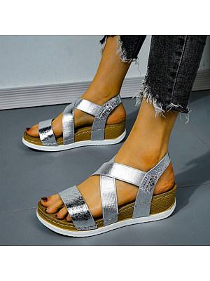 Beach fashion trend soft bottom wedge sandals, 11177736