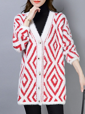 V Neck Knit with all kinds of coats in autumn and winter Cardigan, 10066794