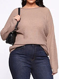 Image of Casual Long Sleeve Pure Colour Knitted top