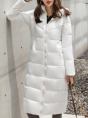 Women's Fashion Solid Color Hooded Cotton Coat gender:female, season:winter, texture:cotton, sleeve_length:long sleeve, sleeve_type:regular sleeve, style:japan and south korea, collar_type:hat collar, dress_occasion:daily, bust:125,clothing length:110,shoulder width:45,sleeve length:67,waistline:120,