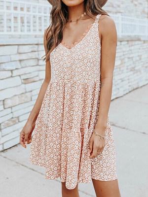 Fashion Floral Print Midi Dress Women, 27468167