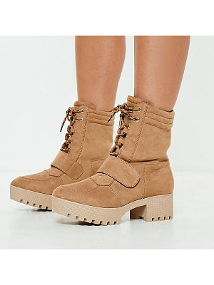 Купить Plain High Heeled Velvet Round Toe Date Outdoor Mid Calf High Heels Boots