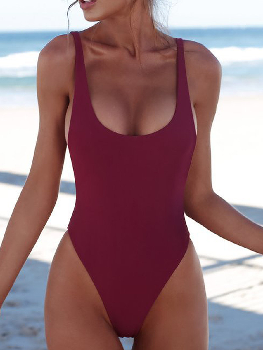 BerryLook Bikini One-Piece Swimwear With Chest Pad